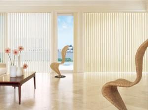 Оформление дизайна окна с использованием аксессуаров. Жалюзи